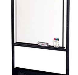 "Best-Rite Mobile Nest Easel, Black Frame, Double Sided Dura-Rite HPL Whiteboard, 72""H x 34.75""W x 24""D (781)"