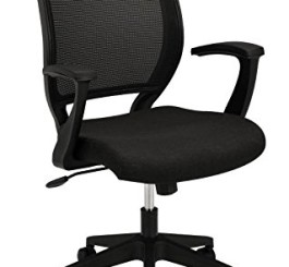 basyx by HON HVL521 Mesh Back Work Chair for Office or Computer Desk, Black