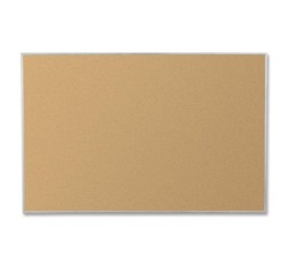 Best-Rite 4 x 6 Feet VT Logic Natural Cork Bulletin Board, Silver Ultra Trim (E3019G)