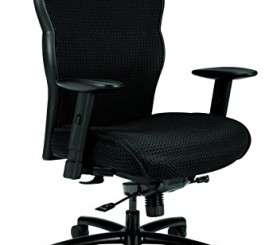 HON Big and Tall Executive Chair - Mesh Office Chair with Adjustable Arms, Black (VL705)
