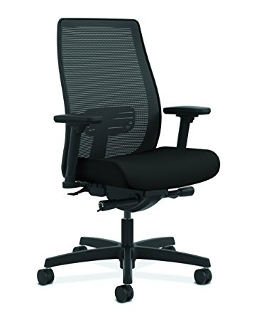 HON Endorse Mesh Mid-Back Task Chair, Black Fabric