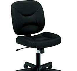 HON Low Back Task Chair - Mesh Computer Chair for Office Desk, Black (HVL210)
