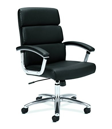 Charmant HON Executive Task Chair   Mid Back Leather Computer Chair For Office Desk,  Black (