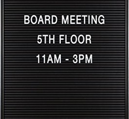 "Balt Essentials Black Letter Board with Letters 12""X18"" (84176)"