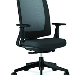 HON Lota Office Chair - Mid Back Mesh Desk Chair or Conference Room Chair, Black