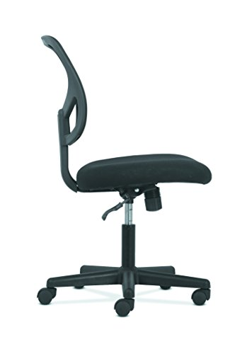 basyx by hon swivel mid back mesh task chair with arms ergonomic