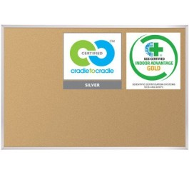 Best-Rite VT Logic Cork Bulletin Board, Aluminum Trim, 4 x 4 Feet (E301AD)