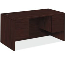 HON 10500 Series Double Pedestal Desk, Mahogany Finish (H10573.NN)