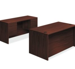 HON 10500 Series Double Pedestal Desk / Credenza, Mahogany Finish (H105DC3P6098N)