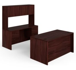 HON 10500 Series Double Pedestal Desk / Credenza, Mahogany Finish (H105DCH6098N)