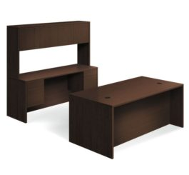 HON 10500 Series Double Pedestal Desk / Credenza, Mocha Finish (H105DCH7298MOCH)