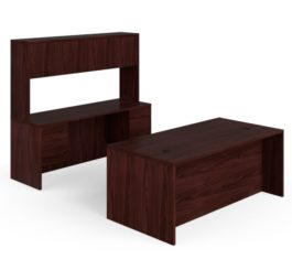 HON 10500 Series Double Pedestal Desk / Credenza, Mahogany Finish (H105DCH7298N)