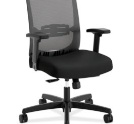 HON Convergence Task Chair, Black Mesh and Seat Fabric (HCAT1MM.Y1.A.H.M.ACCF10.AL.SB.T)