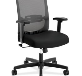 HON Convergence Task Chair, Black Mesh and Seat Fabric (HCAT1MM.Z1.A.H.M.ACCF10.AL.SB.T)