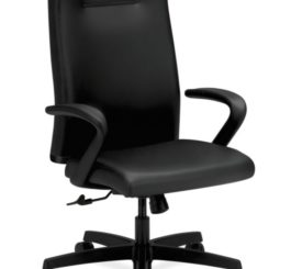 HON Ignition Executive High-Back Chair, Black Leather (HIEH1.F.H.U.SS11.T.SB)