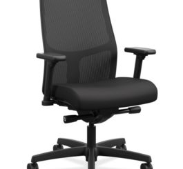 HON Ignition 2.0 Mid-Back Task Chair, Black Fabric (HIWMMKD.Y2.A.H.IM.CU10.NL.SB.T)