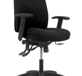 HON Contemporary Mid-Back Task Chair, Black Fabric (HVL282.A2.VA10.T)