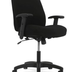 HON Contemporary Mid-Back Task Chair, Black Fabric (HVL282.Z1.VA10.T)
