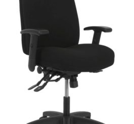 HON Contemporary High-Back Task Chair, Black Fabric (HVL283.A2.VA10.T)