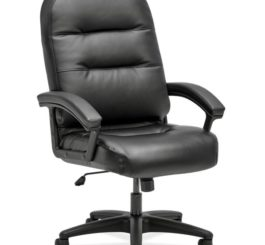 HON Pillow-Soft Executive High-Back Chair, Black SofThread Leather (H2095.H.PWST11.T)