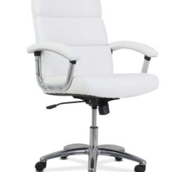 HON Traction High-Back Modern Executive Chair, White Leather (HVL103.SB06)