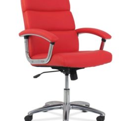 HON Traction High-Back Modern Executive Chair, Red Leather (HVL103.SB42)