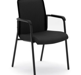 HON Instigate Mesh Back Stacking Multi-Purpose Chair, Black Fabric (HVL518.ES10)