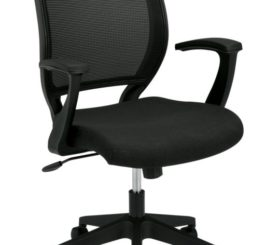 HON Mesh Mid-Back Task Chair, Black Fabric (HVL521.VA10)