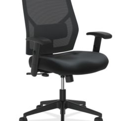 HON Crio High-Back Task Chair, Black Leather (HVL581.SB11.T)