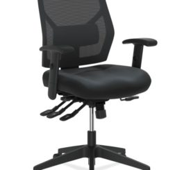 HON Crio High-Back Task Chair, Black Leather (HVL582.SB11.T)