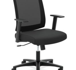 HON Mesh Mid-Back Task Chair, Black Fabric (HVL511.LH10)