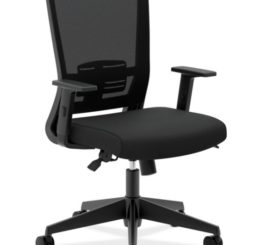 HON Mesh High-Back Task Chair, Black Fabric (HVL541.LH10)