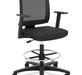 HON Torch Mesh Mid-Back Task Stool, Fixed Arms (HVL515.LH10)