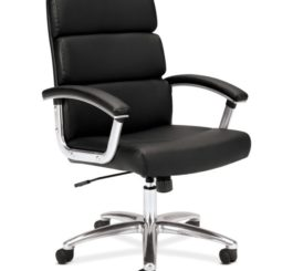 HON Traction High-Back Executive Chair, Black SofThread Leather (HVL103.SB11)